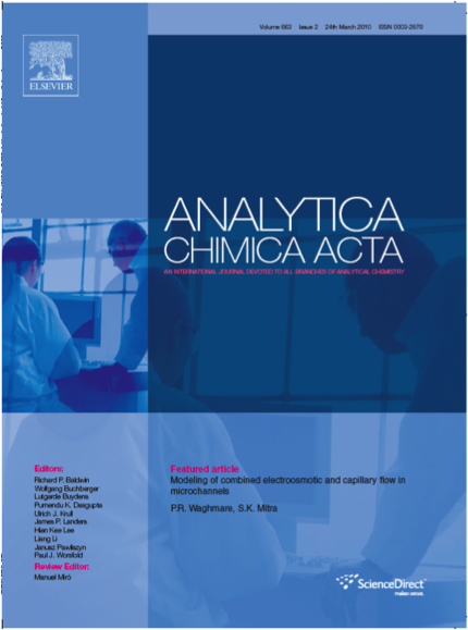 Modeling of combined electroosmotic and capillary flow in micro-channels, Cover article for Analytica Chimica Acta