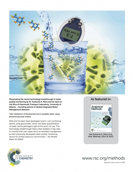 Glucose Meter for E Coli Detection, Cover article for Analytical Methods